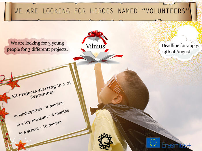 Call for volunteers for different projects in Lithuania!