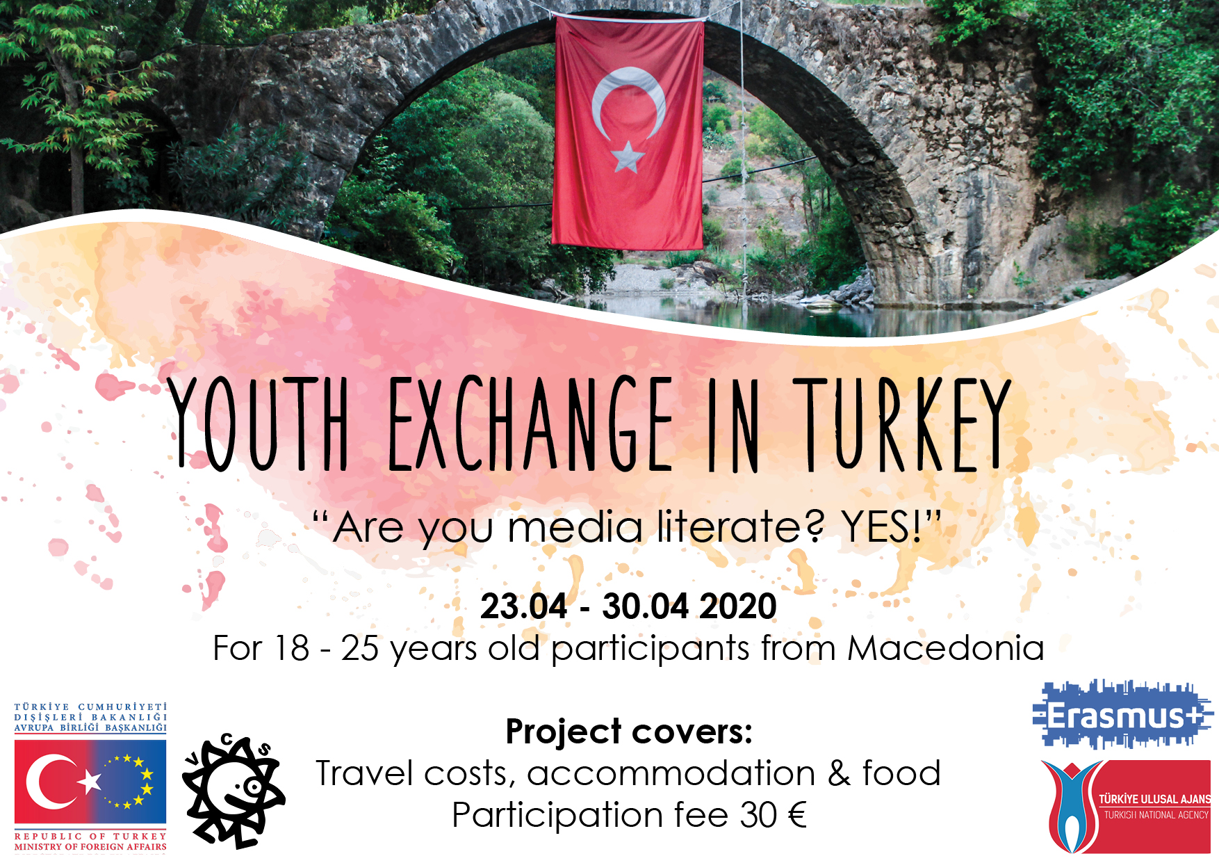"""Call for the Youth Exchange """"Are you media literate? YES!"""" in Malatya, Turkey"""