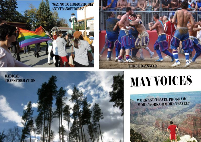 MAY VOICES PUBLISHED