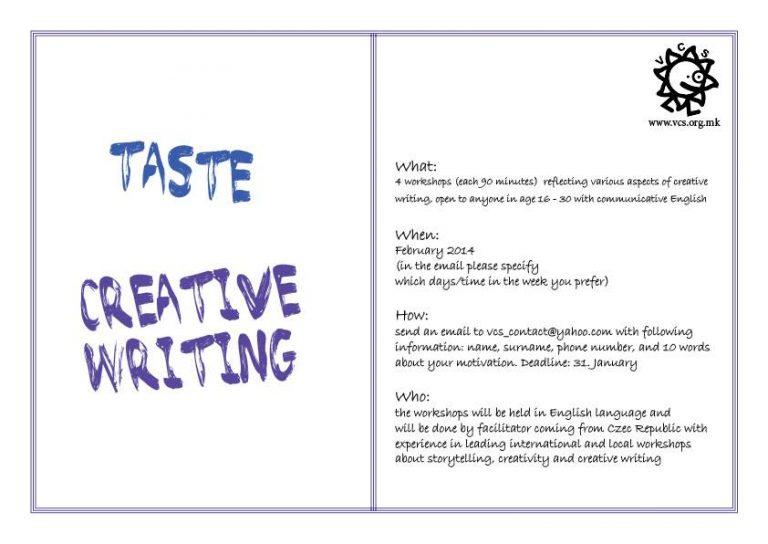 (English) Creative Writing in VCS
