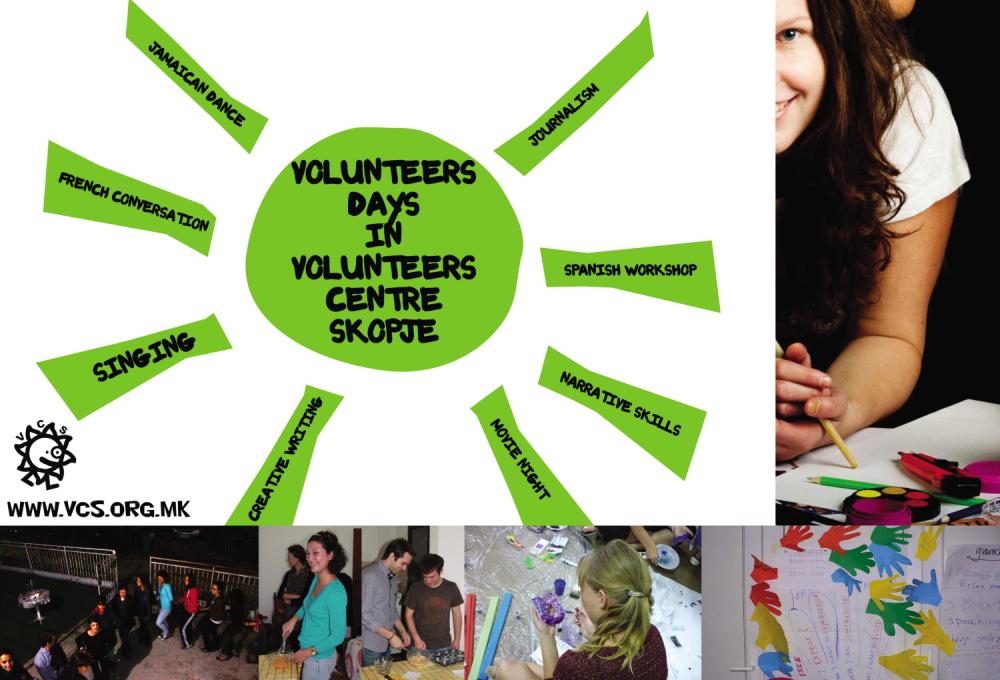 Volunteers days: WORKSHOPS FOR ALL – agenda part 2