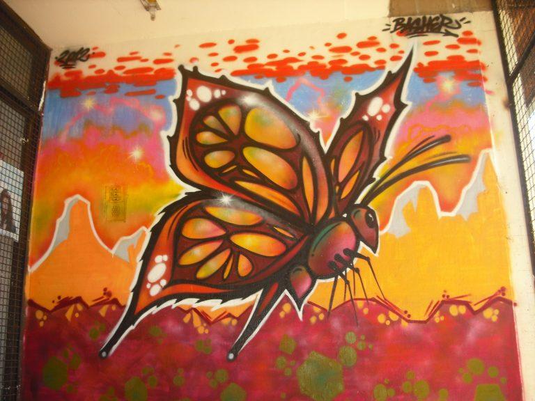 Graffiti for children in Daily Centre for children from street in Shuto Orizari