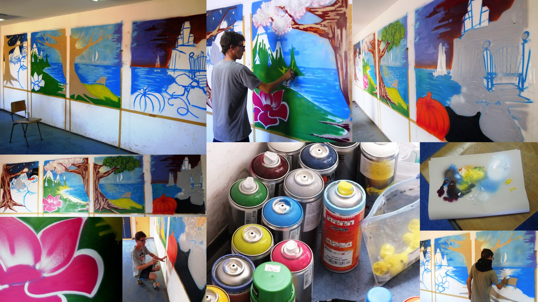 """Outstanding Graffiti for the children in """"Nadez"""""""
