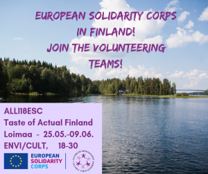 2 volunteering projects in Finland!