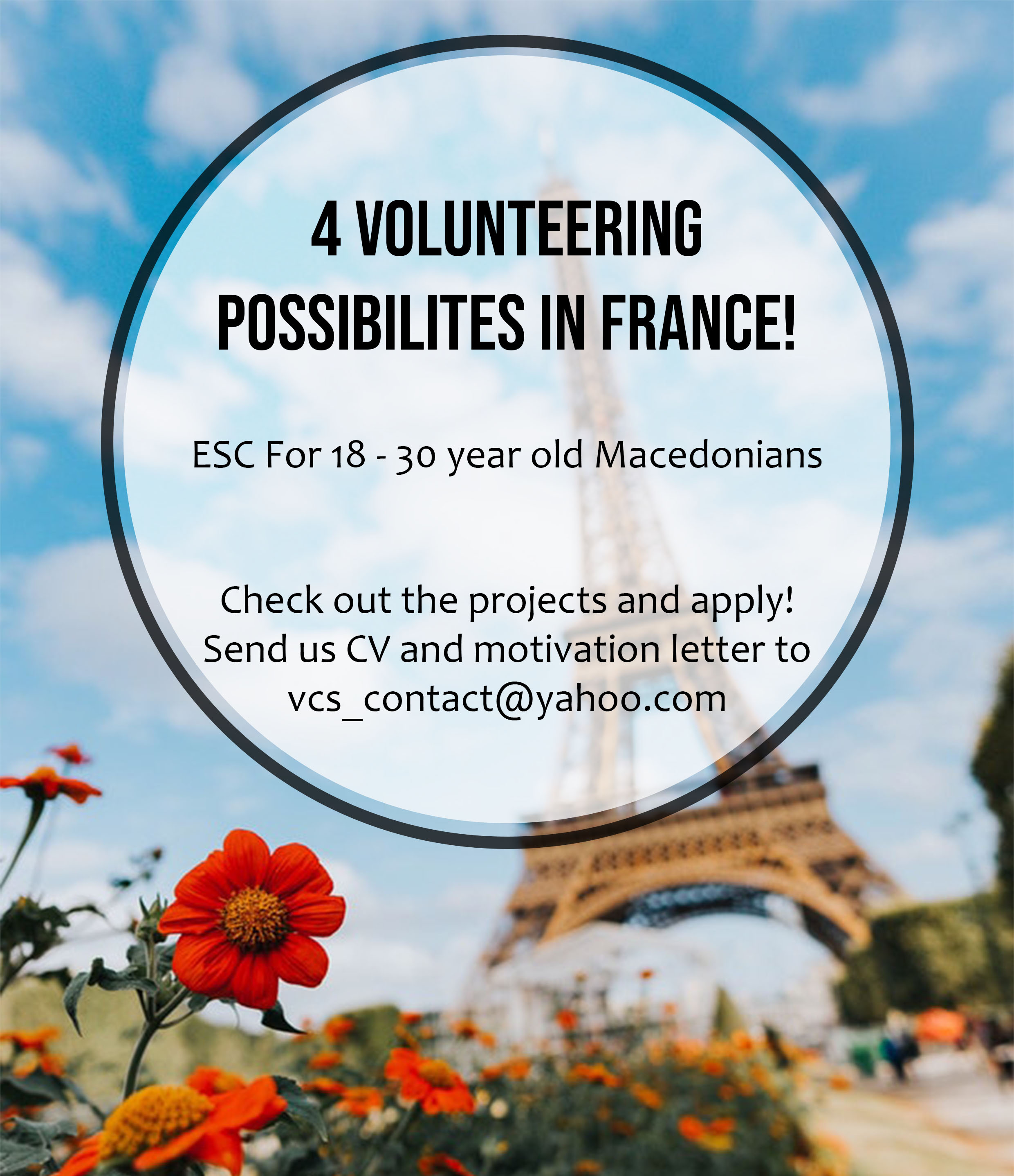 4 volunteering projects in France!