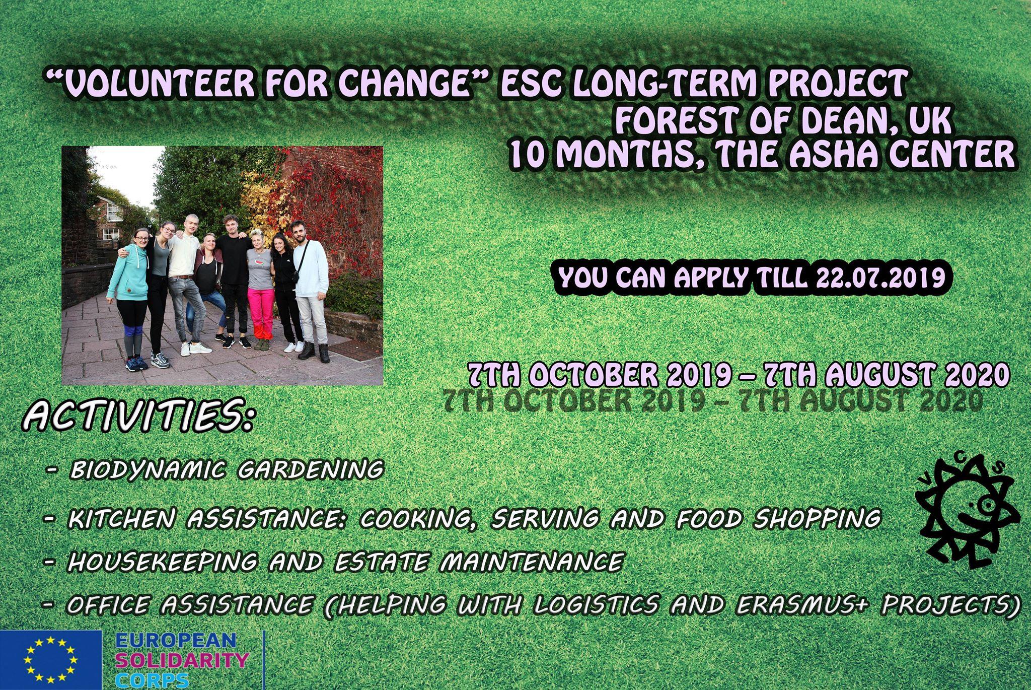 Open Call for Volunteering in UK!