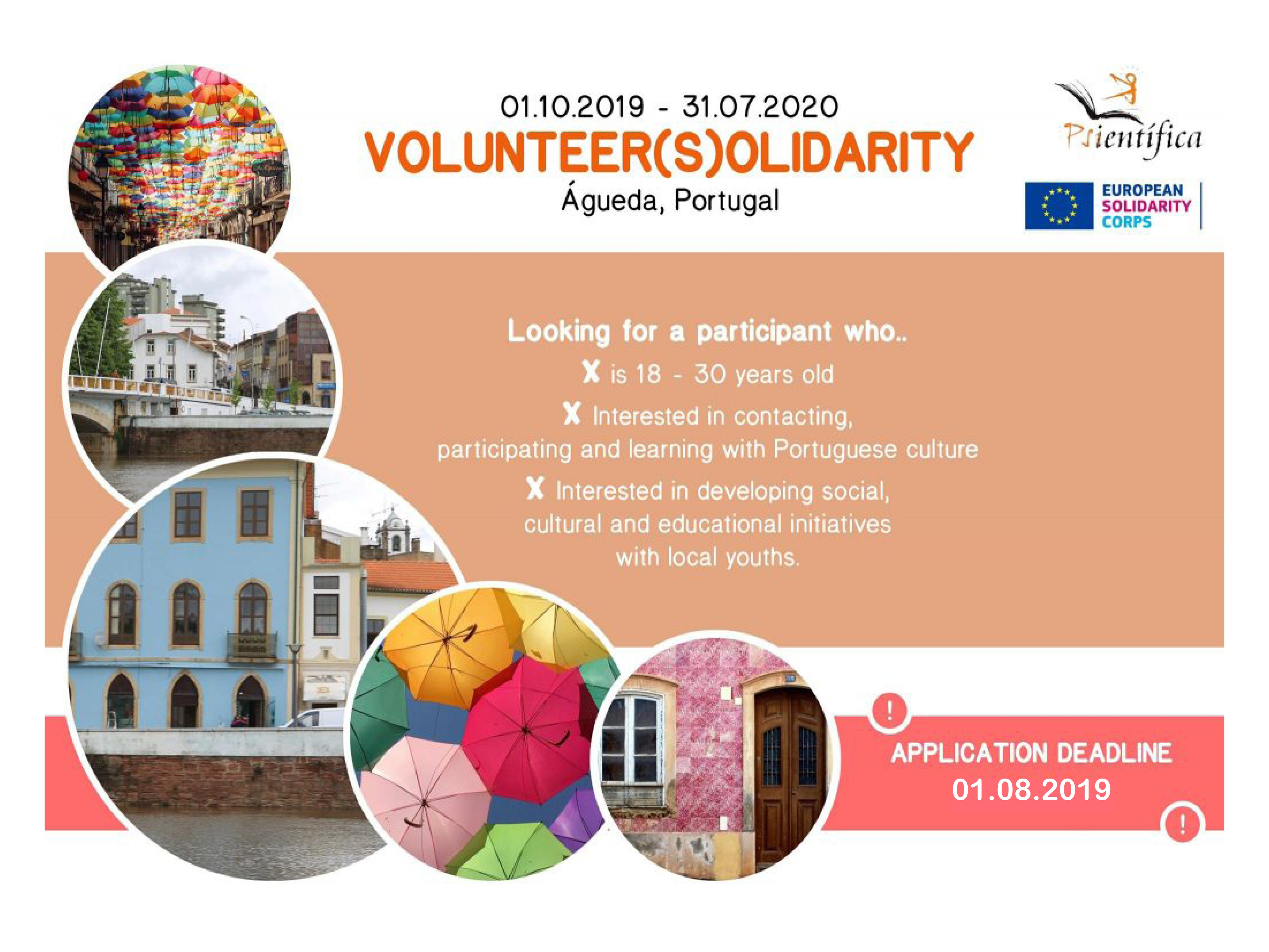 Call for Volunteers for long term ESC in Portugal!