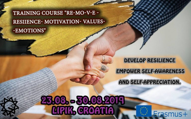 """Call for participants for TC """"Resilience-Motivation-Values-Emotions"""" in Croatia"""