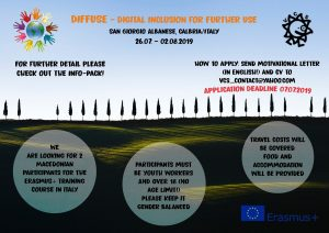 Call for Participants for Training Course in Calabria/Italy