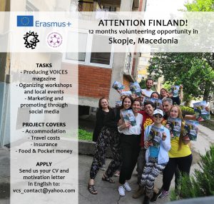 Looking for volunteer from FINLAND!