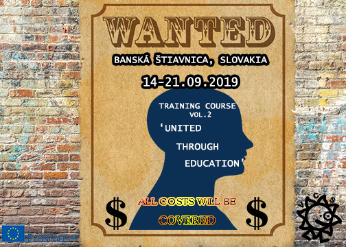 Call for participants for Training Course in Slovakia!