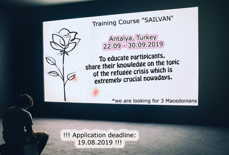Call for participants for Training Course in Turkey!