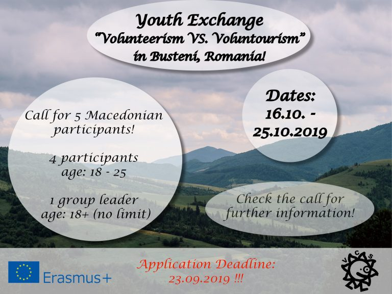 Call for participants for Youth Exchange in Romania!