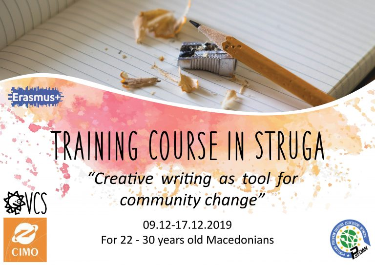 Call for participants for Training Course in Struga, Macedonia!