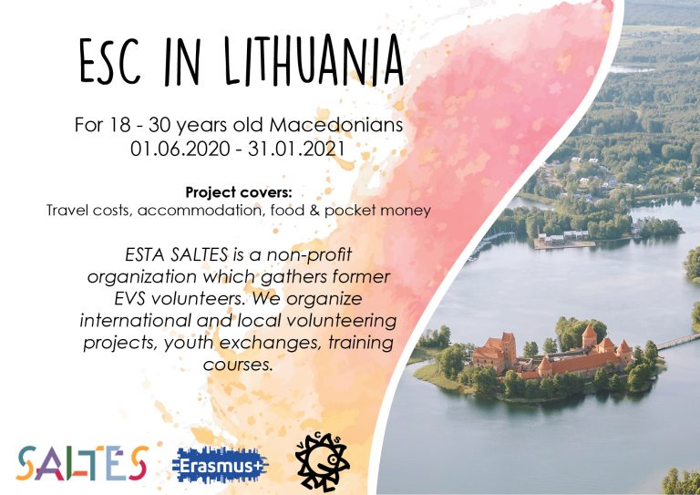 Call for volunteers for ESC in Lithuania