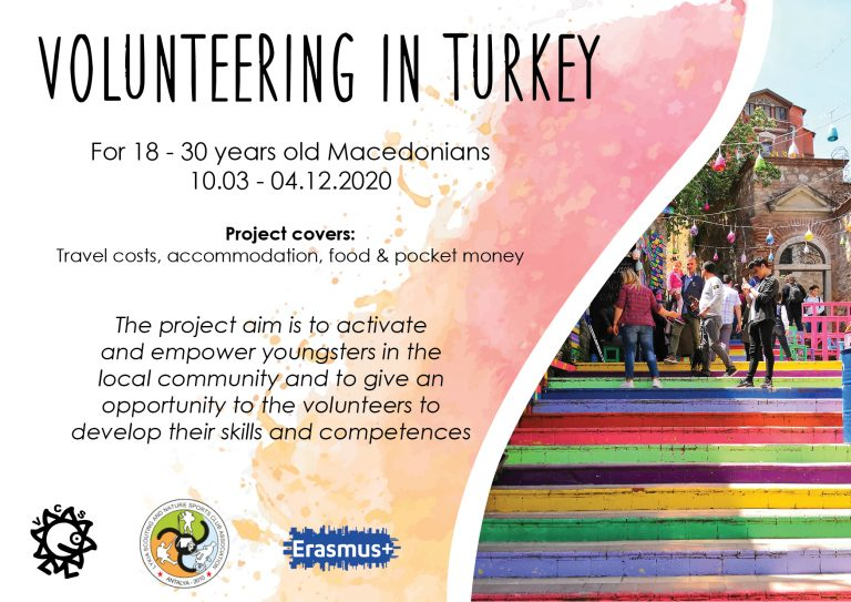 "Call for volunteer for long-term ESC-project ""SPORT FOR SOCIAL SUPPORT 3"" in Turkey"