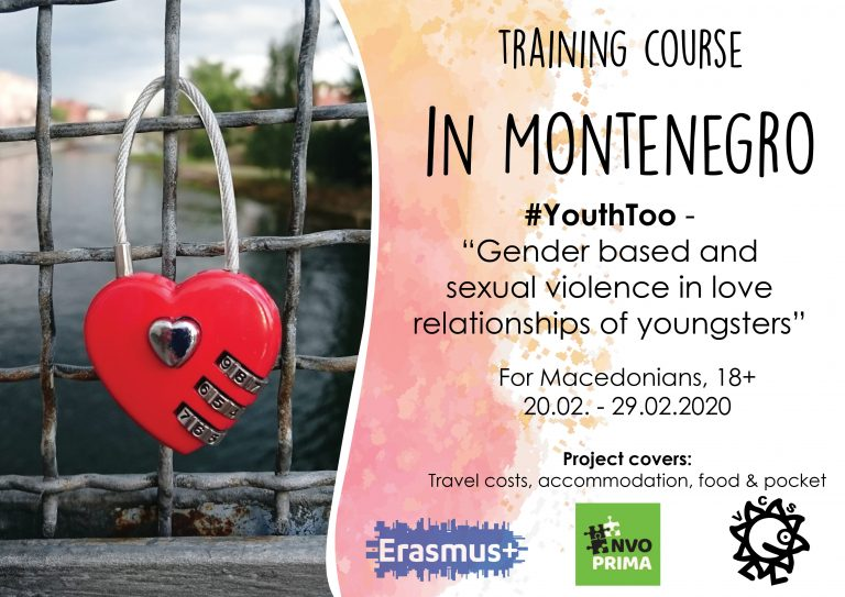 Call for participants for Training Course in Montenegro!