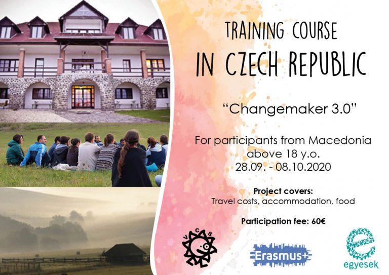 Повик за учесници за тренинг-курс во Чешка Република!