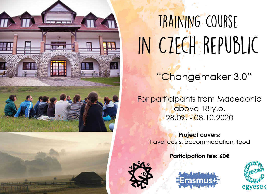 Call for participants for Training Course in Czech Republic!