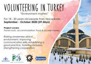 Call for volunteers in Turkey