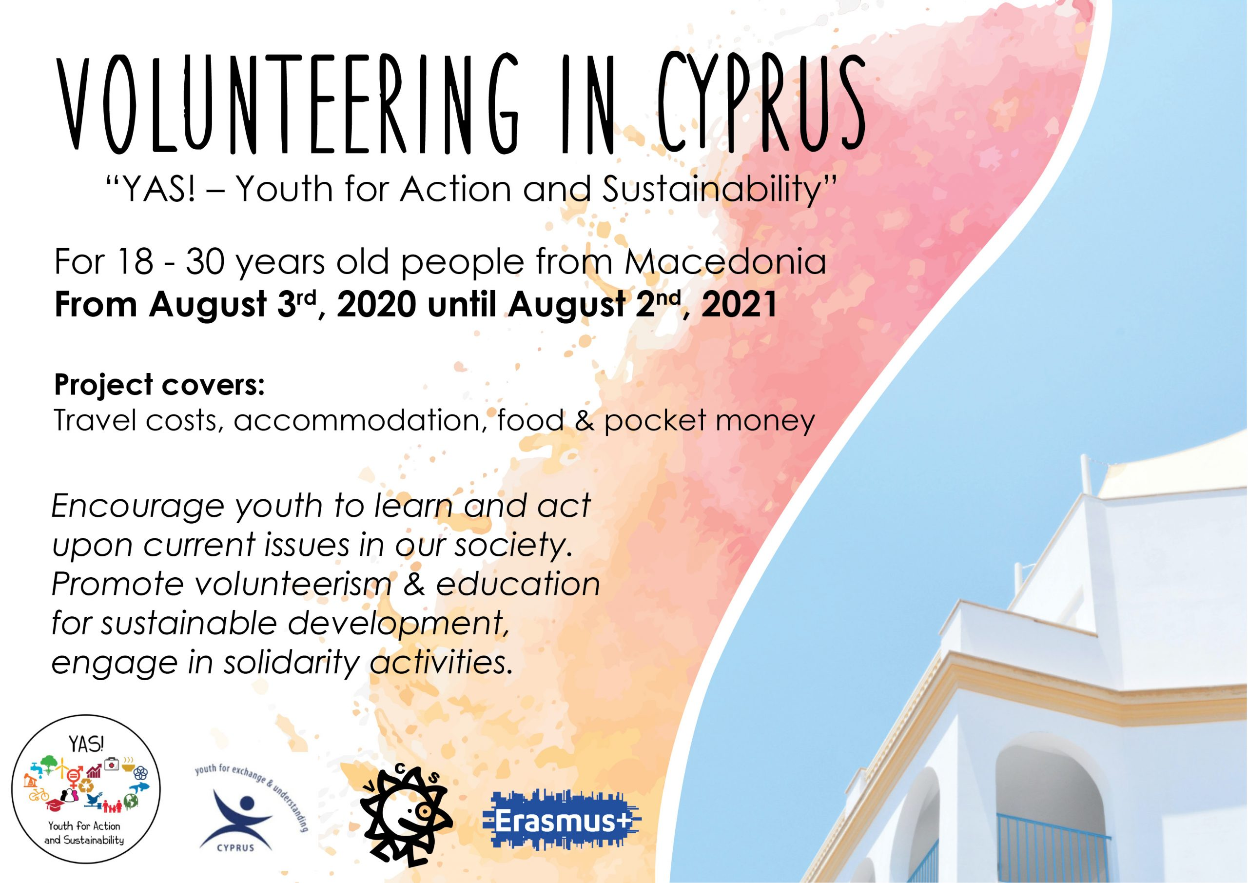 Call for a volunteer in Cyprus!