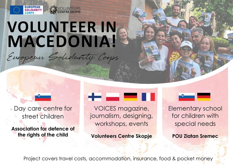 Volunteer in Macedonia! (several projects)