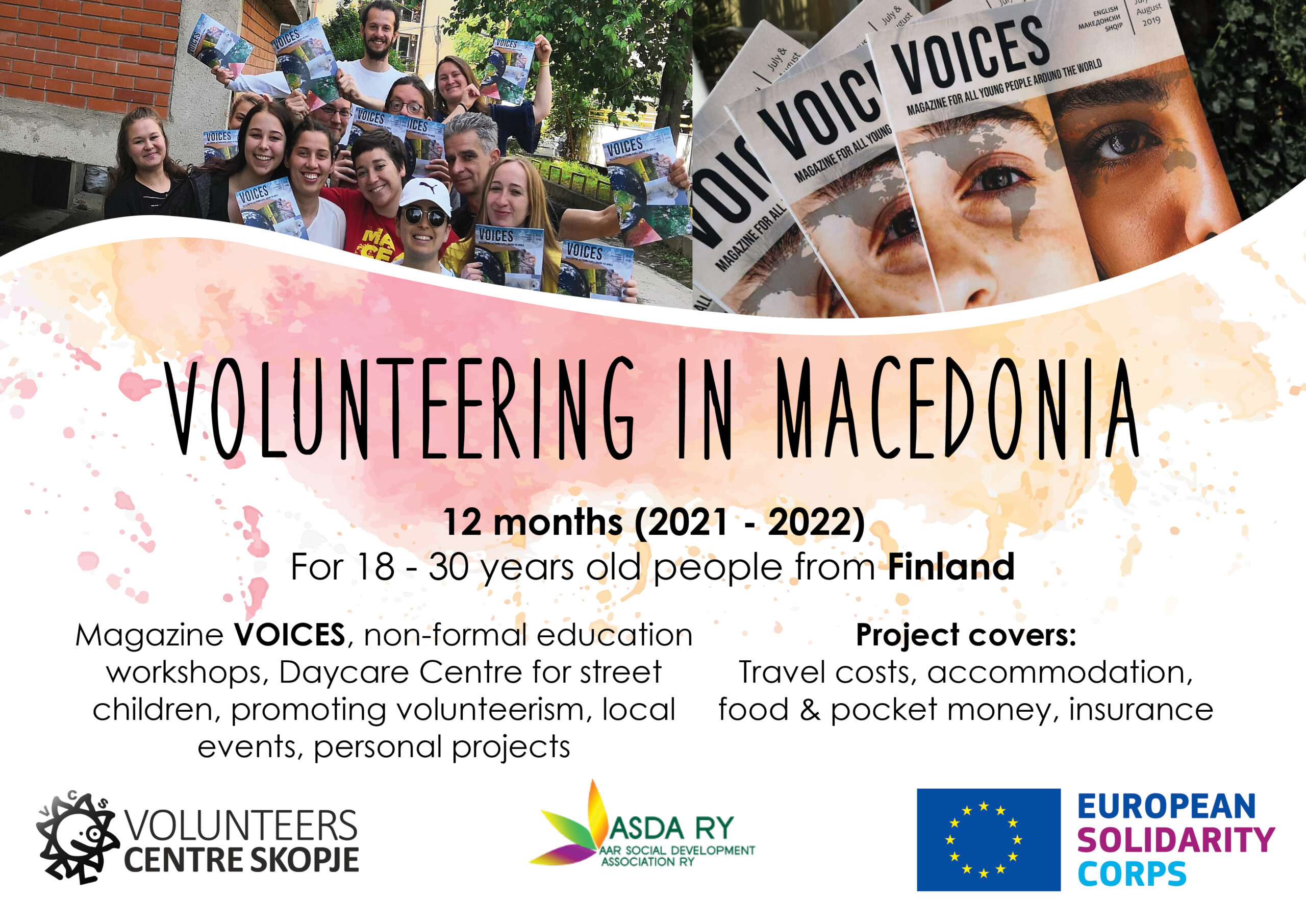 Call for volunteers from Finland to Macedonia!