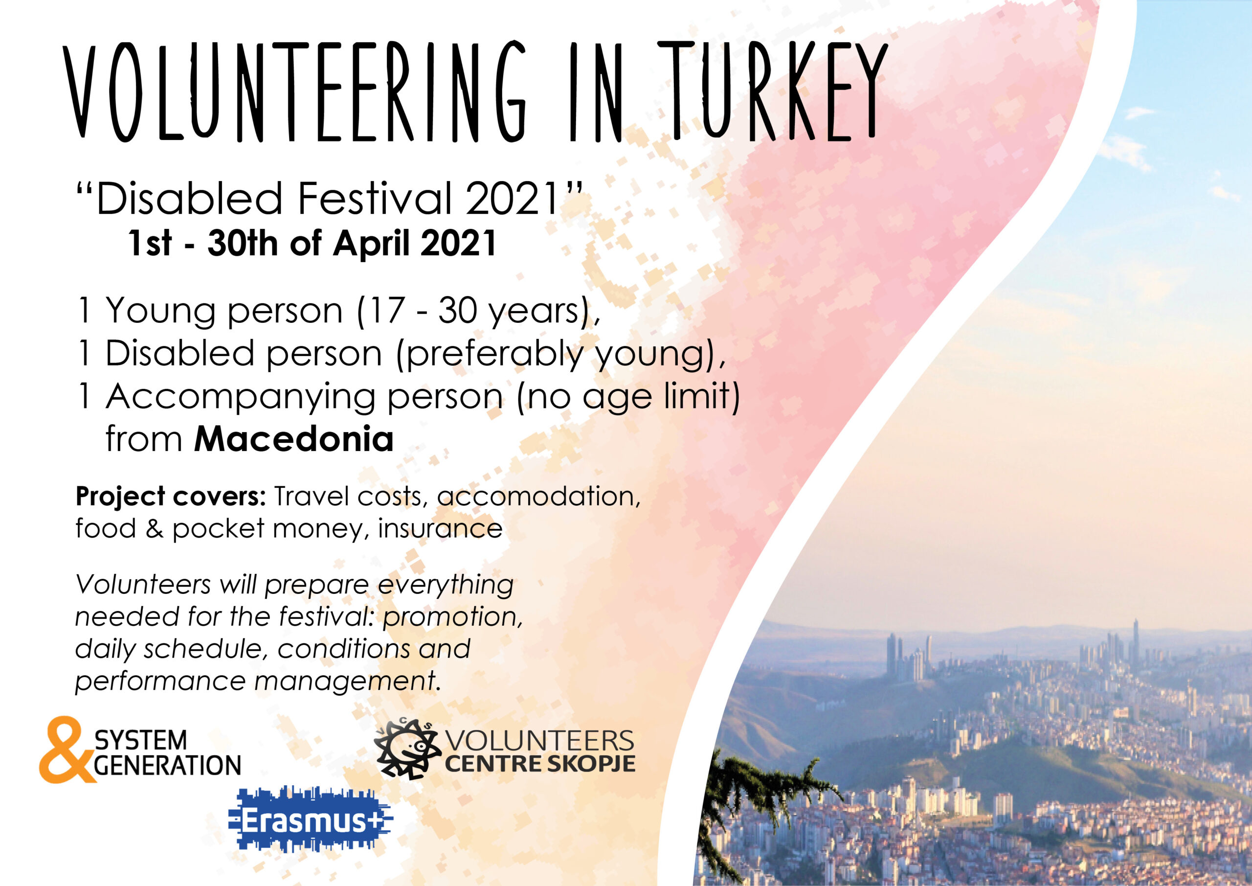 "Call for ESC ""Disabled Festival 2021"" in Turkey!"