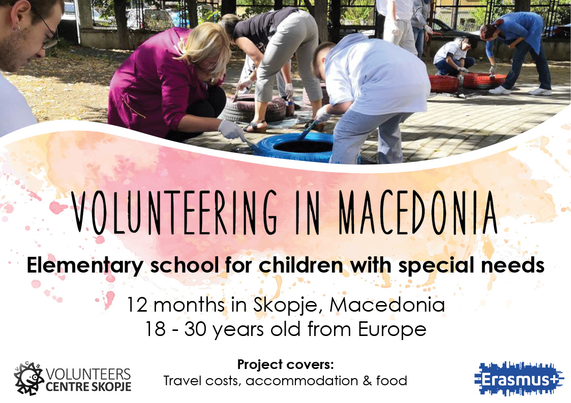 Volunteering in Macedonia – Elementary school for children with special needs
